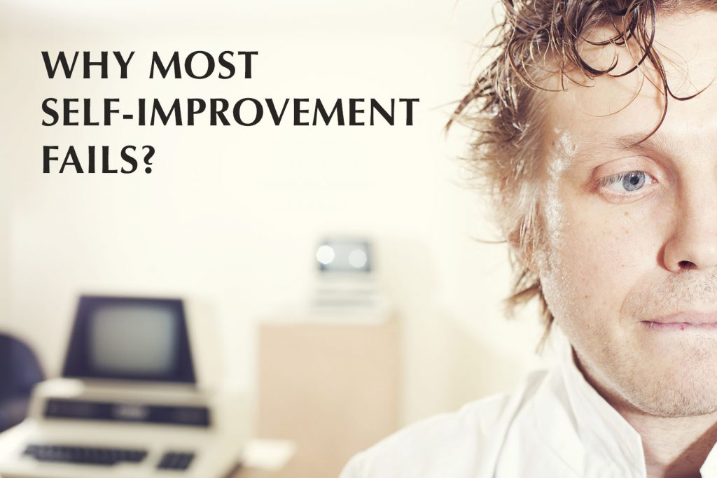why most self-improvement fails - close up of a stress man in the office